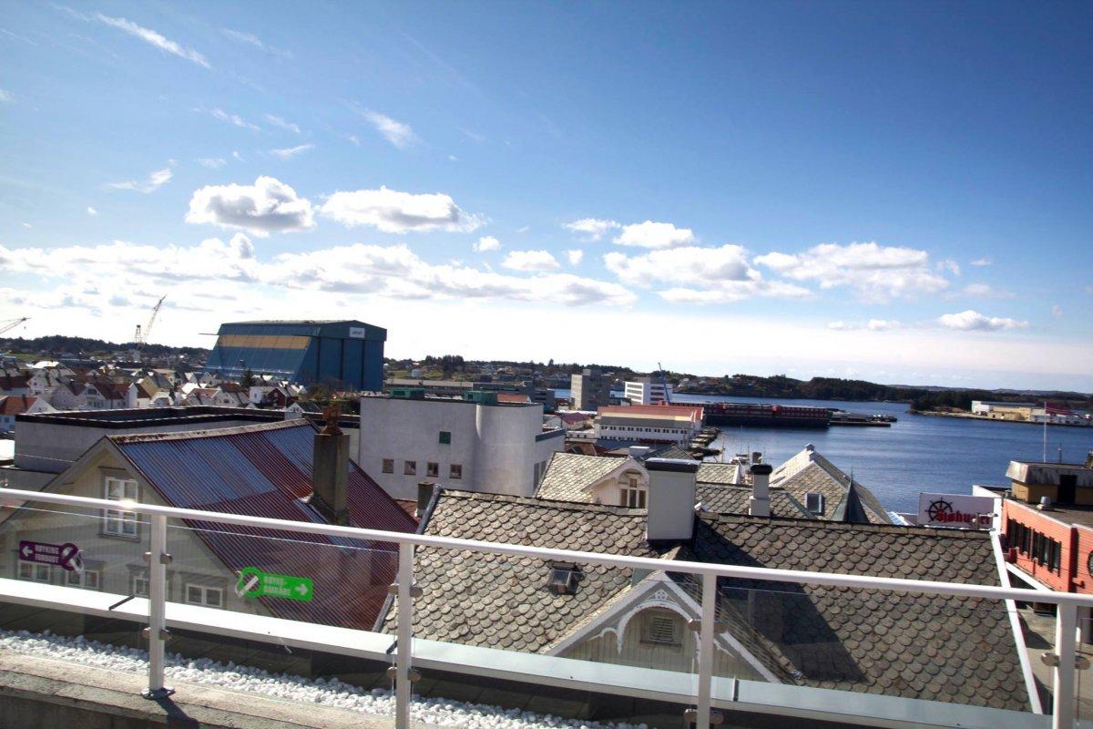 Utsikten fra takterrassen