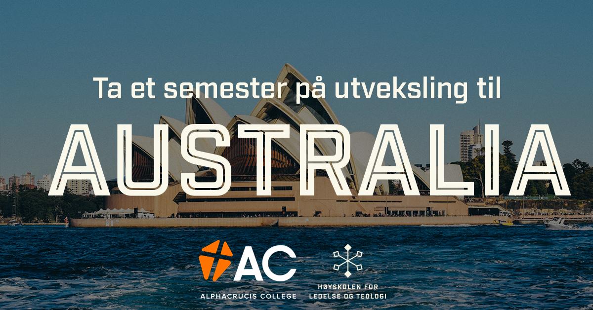 Reklame for å ta et semester i Australia.